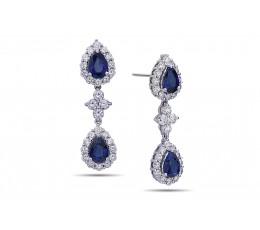 Sapphire and Diamond Earring