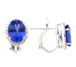 Tanzanite & Diamond Earring