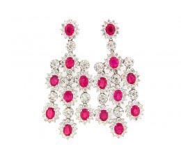 Ruby & Diamond Earring