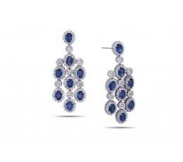 Sapphire & Diamond Chandelier Earring
