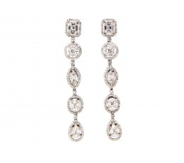 Diamond 5 Station Dangle Earring