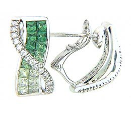 Serenity - Shades of Tsavorite Earrings