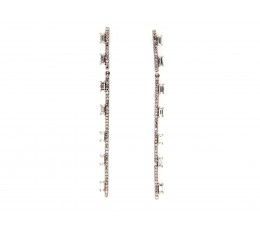 Diamond Long Bar Earring