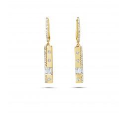 Diamond Baguette Bar Earring