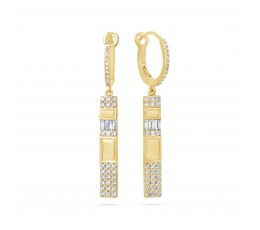 Diamond Bar Drop Earring