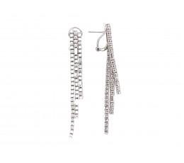 Diamond 3 Strand Dangle Earring