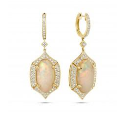Opal & Diamond Earring