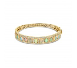 Opal & Diamond Bangle