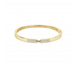 Diamond Baguette Notch Bangle