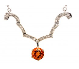 Citrine & Diamond Heart Convertible Necklace