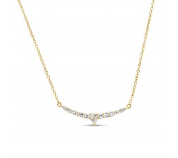 Rose Cut Diamond Pendant Necklace