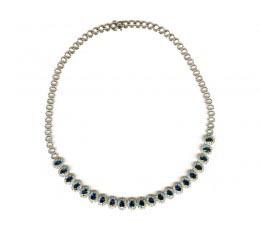 Dilamani Couture - Sapphire & Diamond Necklace