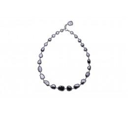 Black Diamond Slice Necklace