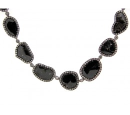 Black Diamond Slice Necklace