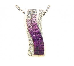 Lust - Shades of Pink Sapphire Pendant
