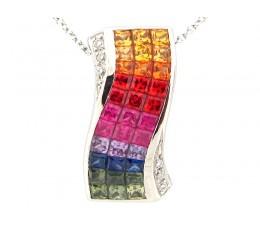 Passion - Intense Rainbow Sapphire Pendant