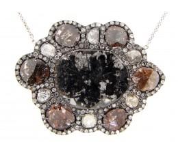 Diamond Slice Pendant Necklace