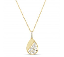 Diamond Pear Pendant