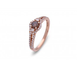 Brown Diamond Center Stone Ring