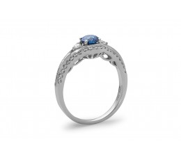 Blue Diamond Center Ring