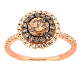Brown & White Diamond Ring