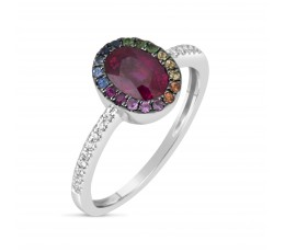 Ruby and Rainbow Ring