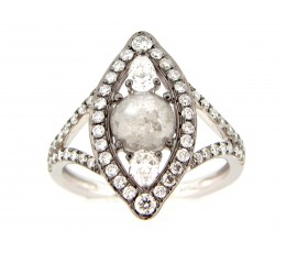 Gray Diamond Cat Eye Ring