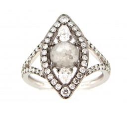 Gray Diamond Cat Eye Ring