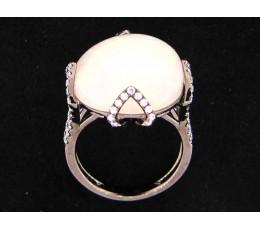 Opal & Diamond Cocktail Ring