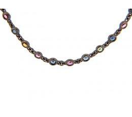 Rainbow Sapphire 18 Chain