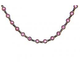 Pink Sapphire 18 Chain