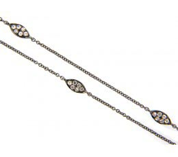 White Sapphire Sterling Silver 38 Chain