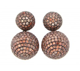 Brown Zircon Earring