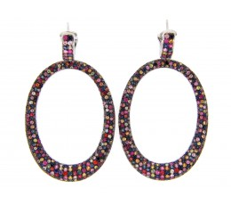 Rainbow Sapphire Earring