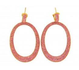 Pink Sapphire Earring