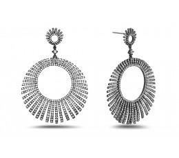 White Sapphire Starburst Earring
