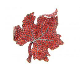 Orange Sapphire Broach