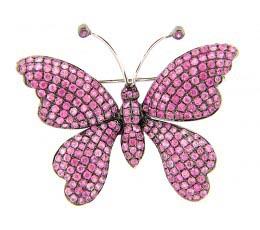 Pink Sapphire Broach