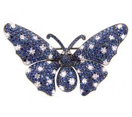 Blue & White Sapphire Broach
