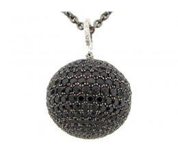 Black Spinel Ball Pendant