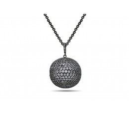 25MM White Sapphire Ball Pendant