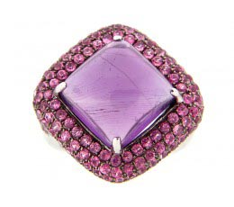 Amehyst & Pink Sapphire Ring