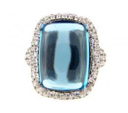 Blue Topaz & Sapphire Ring