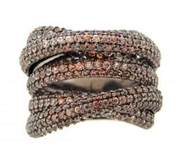 Brown Zircon Ring