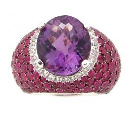 Amethyst & Ruby Ring