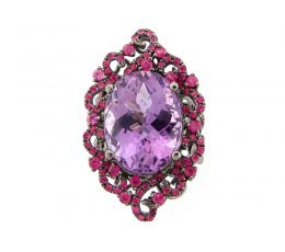 Amethyst & Pink Sapphire Ring